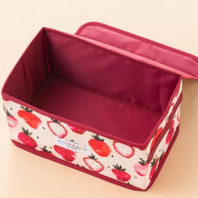 FEILER(フェイラー)の新品未開封❣️ラブラリーバイフエィラーストロベリードット柄マルチ収納ボックス インテリア/住まい/日用品の収納家具(ケース/ボックス)の商品写真