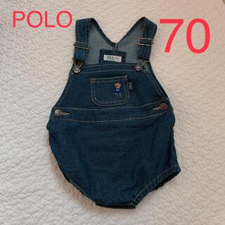 ポロラルフローレン(POLO RALPH LAUREN)のポロベア polo オーバーオール 70(カバーオール)