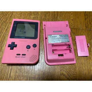 ニンテンドウ(任天堂)のジャンク GBP ゲームボーイポケット 液晶 ケース(携帯用ゲーム機本体)