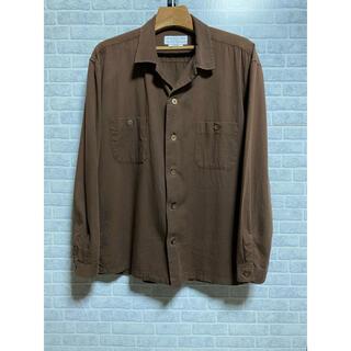チャオパニックティピー(CIAOPANIC TYPY)のCIAOPANIC  TYPY オープンカラーシャツ ブラウン レーヨン(シャツ)