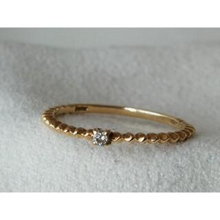 ジュピターゴールドレーベル(jupiter GOLD LABEL)のジュピター リップル Ripple リング K10YG ダイヤモンド 0.02(リング(指輪))