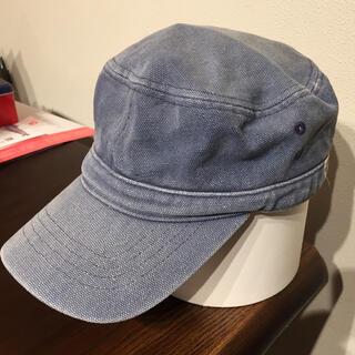 週末限定 ワークキャップ 帽子 デニム ウオッシュ(キャップ)