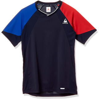 ルコックスポルティフ(le coq sportif)のle coq sportif ルコックスポルティフ 半袖Tシャツ紺青赤 メンズM(ウェア)