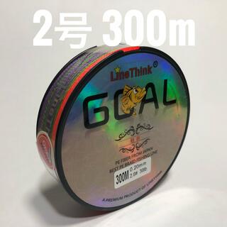 PEライン 2号 300m マルチカラー(釣り糸/ライン)
