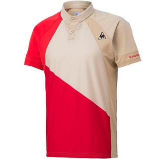 ルコックスポルティフ(le coq sportif)のle coq sportif ルコックスポルティフ 半袖ポロシャツ茶 メンズL(ウェア)