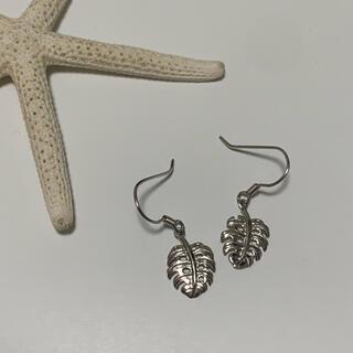 【当日発送】ハワイアンジュエリー モンステラピアス silver925(ピアス)