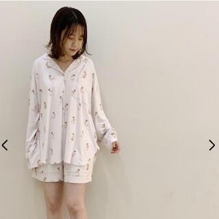 ジェラートピケ(gelato pique)のジェラートピケ ラビットモチーフシャツ ショートパンツ セット(ルームウェア)