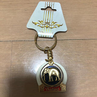 タイ ゴールド キーホルダー お土産 ゾウ (キーホルダー)