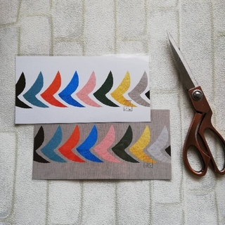 ミナペルホネン(mina perhonen)の【廃盤 白色バード】つづく展 ポストカード大 白色(その他)