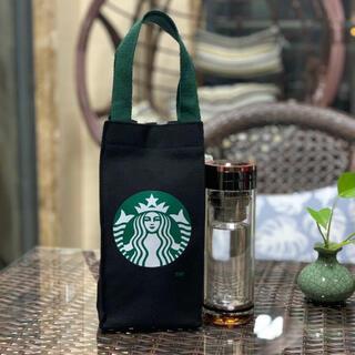 スターバックスコーヒー(Starbucks Coffee)のスタバ スターバックス トート バッグ 黒 限定 ドリンクホルダー タンブラー(トートバッグ)