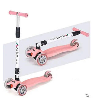 子供用キックボード 折りたたみ式  3輪 ブレーキ付き(三輪車/乗り物)