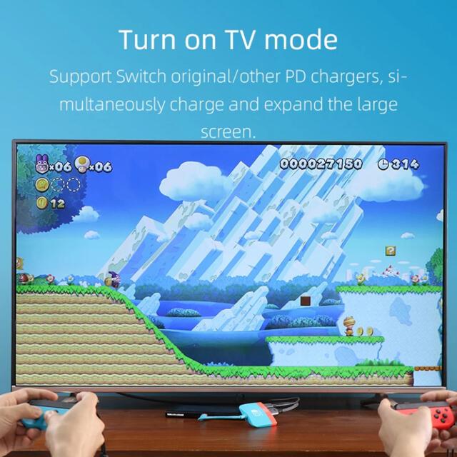 テレビ 繋げる スイッチ かさばるドックは不要!ニンテンドースイッチをテレビにHDMI出力可!innowattの4in1 USB