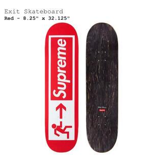 シュプリーム(Supreme)のsupreme Exit Skateboard Red デッキ スケボー(スケートボード)