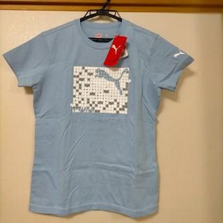 プーマ(PUMA)のPUMA レディース Mサイズ Tシャツ ブルー(Tシャツ(半袖/袖なし))