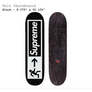 シュプリーム(Supreme)のsupreme Exit Skateboard Black デッキ スケボー(スケートボード)