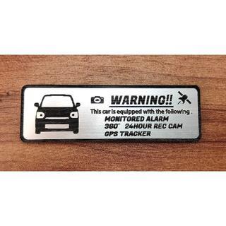 ダイハツ(ダイハツ)の新型 トコット セキュリティ エンブレム 小 ドラレコ GPS ステッカー(車外アクセサリ)