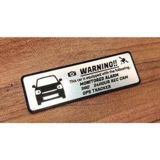 ダイハツ(ダイハツ)の現行 トコット セキュリティ エンブレム 小 ドラレコ GPS ステッカー(車外アクセサリ)