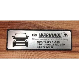 ダイハツ(ダイハツ)の現行 ミラ トコット セキュリティ エンブレム 大 ドラレコ GPS ステッカー(車外アクセサリ)