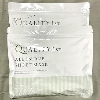 クオリティファースト(QUALITY FIRST)の【新品未開封】クオリティファースト シートパック ホワイト 60枚(パック/フェイスマスク)