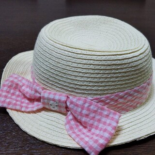 クーラクール(coeur a coeur)のクーラクール リボン 麦わら帽子 46cm(帽子)