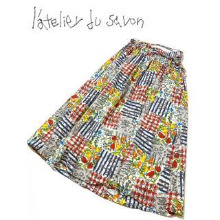 アトリエドゥサボン(l'atelier du savon)のl'atelier du savon / アトリエ ドゥ サボン 総柄 スカート(ロングスカート)