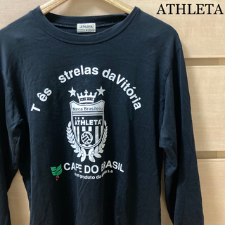 アスレタ(ATHLETA)の【複数割】ATHLETA アスレタ ロンT 長袖 シャツ Mサイズ 黒(Tシャツ/カットソー(七分/長袖))