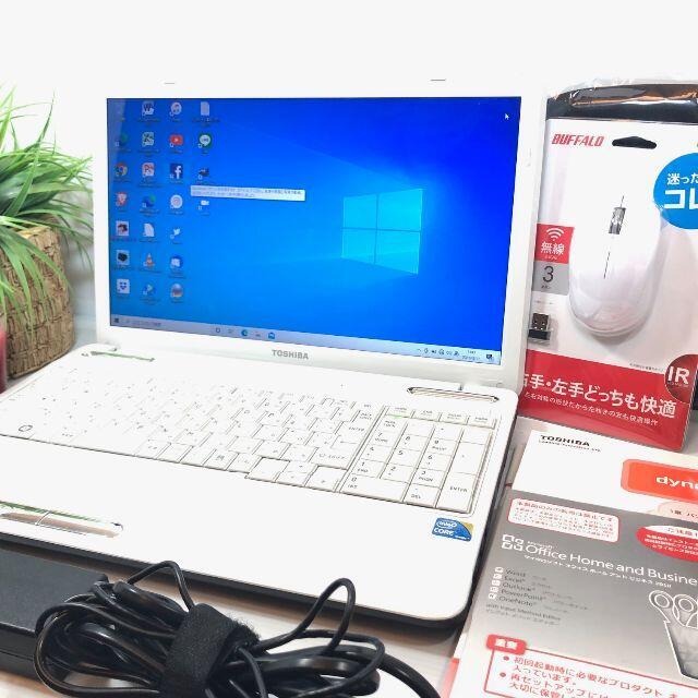 東芝(トウシバ)のノートパソコン 本体 Windows10 SSD Office2010 東芝 スマホ/家電/カメラのPC/タブレット(ノートPC)の商品写真