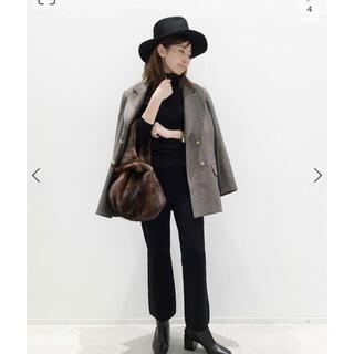 アパルトモンドゥーズィエムクラス(L'Appartement DEUXIEME CLASSE)のL'Appartement Cropped Knit パンツ ブラック 36(クロップドパンツ)