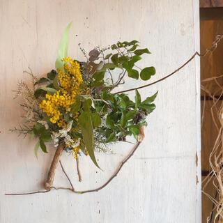 mimoza〜ミモザの和風ナチュラルスワッグ○ドライフラワースワッグ(ドライフラワー)