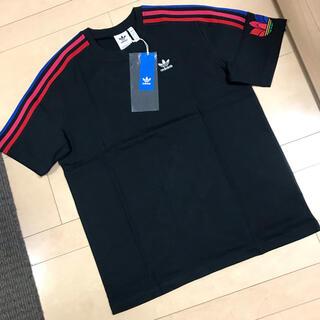 アディダス(adidas)の【新品】アディダスオリジナルス 半袖Tシャツ サイズO(XL)ブラック 赤(Tシャツ/カットソー(半袖/袖なし))