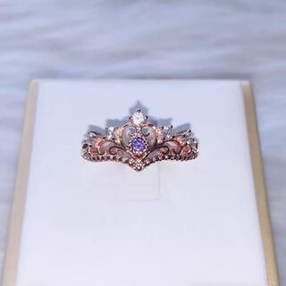 ティアラ リング 指輪 purple(リング(指輪))
