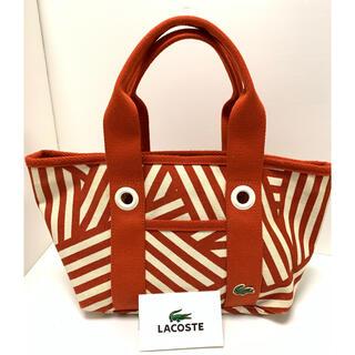 ラコステ(LACOSTE)のラコステ ボーダートートバッグ 使いやすいサイズSスポーツの時にも普段使いにも。(トートバッグ)