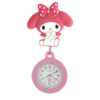 サンリオ(サンリオ)の新品 ナースウォッチ マイメロディ サンリオ ピンク 逆さ時計(キャラクターグッズ)