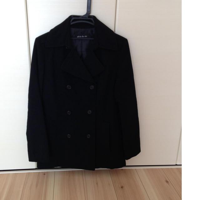黒コート レディースのジャケット/アウター(ピーコート)の商品写真