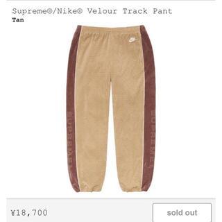 シュプリーム(Supreme)のSupreme®/Nike® Velour Track Pant Tan S(その他)