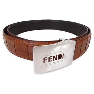 フェンディ(FENDI)の未使用 フェンディ FENDI ベルトバックル 社外クロコダイルベルト付き(ベルト)