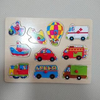 ニシマツヤ(西松屋)の持ち手付木製型はめパズル 乗り物 西松屋(知育玩具)