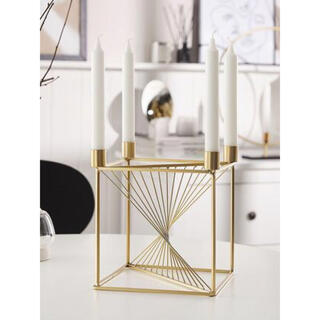 フランフラン(Francfranc)のフレンチデコ ゴールドメタルのキャンドルホルダー 4 MINDORO(キャンドル)
