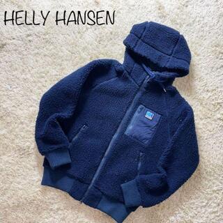 ヘリーハンセン(HELLY HANSEN)のヘリーハンセン ボアフリースジャケット ブルゾン ワンポイント ネイビー 肉厚(ブルゾン)