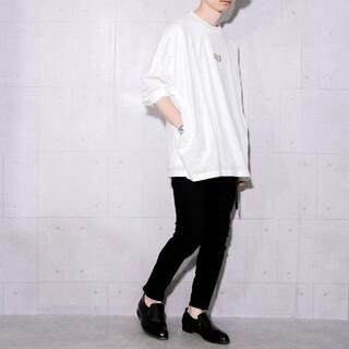 MBLR プリントオーバーサイズカットソー ホワイト(Tシャツ/カットソー(七分/長袖))
