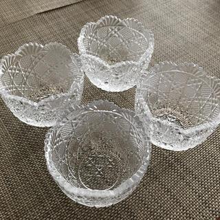トウヨウササキガラス(東洋佐々木ガラス)のSASAKI CRYSTAL  小鉢4個セット(食器)