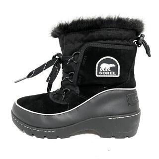 ソレル(SOREL)のソレル ショートブーツ 24 レディース - 黒(ブーツ)