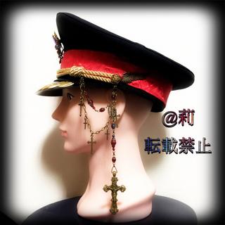 数量限定 -Michael-軍帽 ポリスハット カスタム軍帽 金古美 ゴールド(小道具)