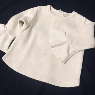 プティマイン(petit main)の美品 プティマイン  トップス フリル袖 (Tシャツ/カットソー)