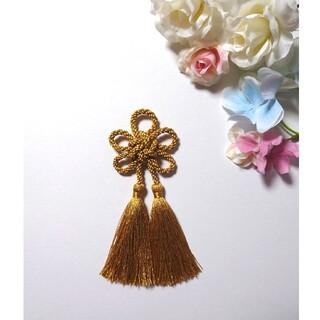 髪飾り 梅結び(ゴールド) 卒業式 成人式 七五三(ヘアアクセサリー)