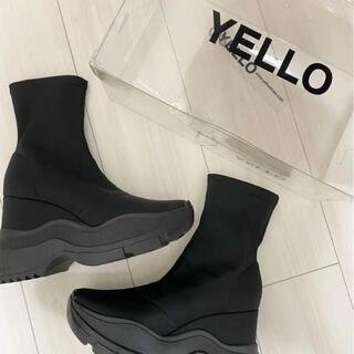 イエロー(yellaw)のイエロー スニーカーブーツ ショートブーツ(ブーツ)