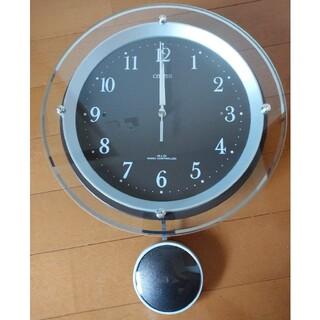 シチズン(CITIZEN)の振り子付 壁掛け電波時計(電池式)(掛時計/柱時計)