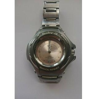 ベビージー(Baby-G)のBaby-G/G-SiS ベビーG (シルバー&ライトピンク)電池切れ更に値下げ(腕時計)