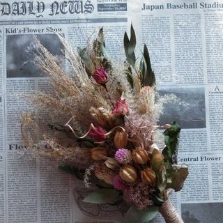花を愛する人へスワッグ50cm(ドライフラワー)
