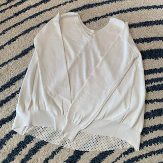 ラウンジドレス(Loungedress)のLaungedress ホワイト星柄スプリングニット(ニット/セーター)